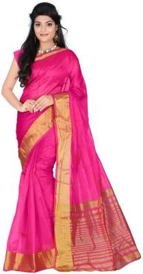 Anglefashion Self Design Daily Wear Art Silk Sari