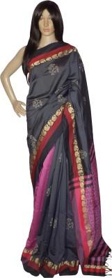 KheyaliBoutique Graphic Print Phulia Handloom Silk Cotton Blend Sari
