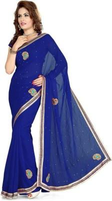 Chandramoulifashion Self Design Fashion Georgette Sari