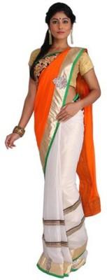 Nav Durga Applique, Embellished Fashion Art Silk Sari