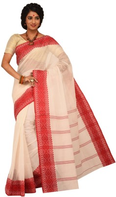 Sangam Kolkata Embellished Fashion Handloom Cotton Sari