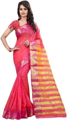 loot lo creation Woven Bandhani Art Silk Sari