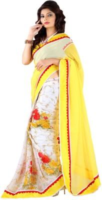 ShopOnn Self Design Bollywood Chiffon Sari