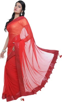 EthnicPark Self Design Fashion Chiffon Sari(Multicolor)