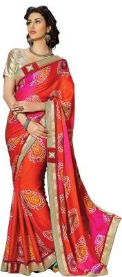 Hitansh Fashion Embriodered Bandhani Georgette Sari