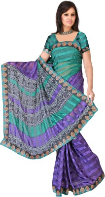 MGS Printed Fashion Synthetic Sari