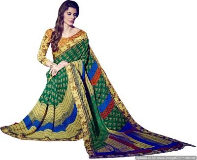 KAAMIRI Printed Fashion Georgette Sari