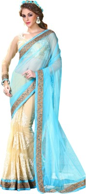 Hypnotex Solid Fashion Net Sari