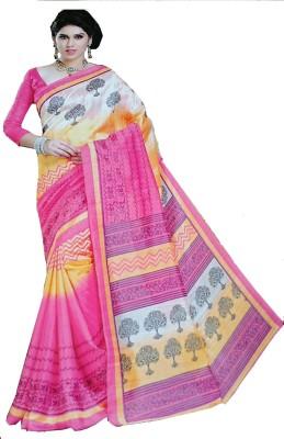 Aara Textiles Graphic Print Fashion Synthetic Fabric Sari