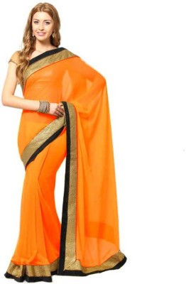 Ridhhi Solid Bollywood Chiffon Sari