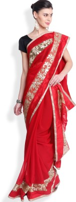 Utsava Plain Bollywood Georgette Sari
