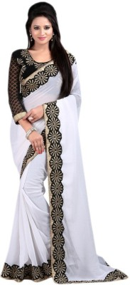 AahnaFashion Embriodered Bollywood Chiffon Sari