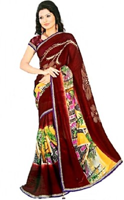 Sargam Graphic Print Fashion Georgette Sari