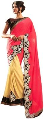 Fashionatics Embriodered Fashion Chiffon Sari