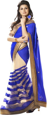 ExoticSurat Embriodered Fashion Handloom Georgette Sari