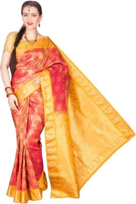 Shristi Self Design Fashion Handloom Brocade Sari