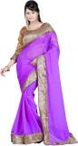 Fashiondeal Solid Fashion Chiffon Saree ...