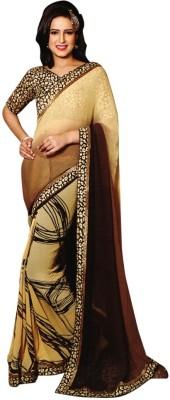 RV Fashions Printed Fashion Georgette Sari