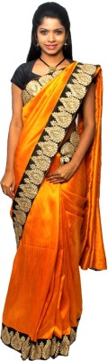 Avantika Plain Fashion Handloom Raw Silk Sari