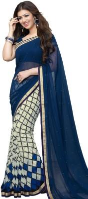 Design Villa Embriodered Bollywood Georgette Sari