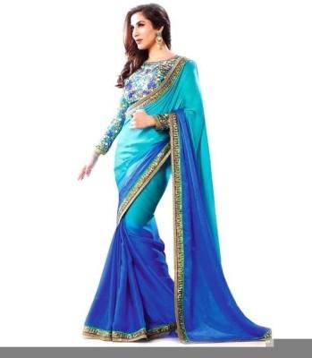 Shaurya Trendz Plain Fashion Georgette Sari