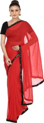 Kajal New Collection Solid Bollywood Georgette Sari