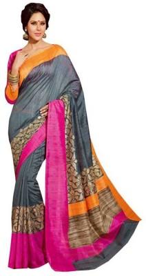 Rinkey Sarees Self Design Bhagalpuri Silk Sari
