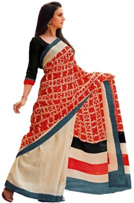 Abida Printed Bhagalpuri Handloom Art Silk Sari