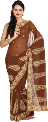 Parchayee Embriodered Daily Wear Georgette Sari