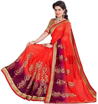 Mahadevi Embellished, Embriodered Bollywood Georgette Sari