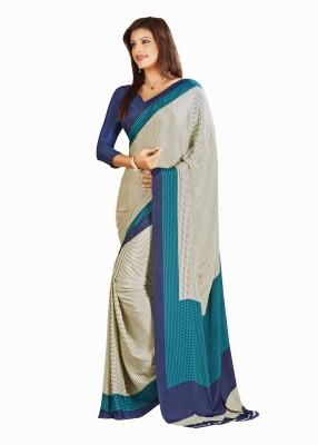 Zeven Fouten Floral Print Bollywood Georgette Sari