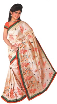 Essemm Embriodered Fashion Tussar Silk Sari