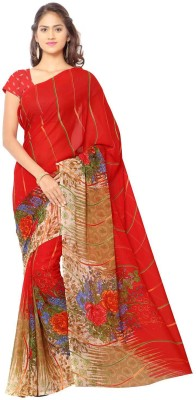 Anand Sarees Printed Fashion Synthetic Georgette Sari
