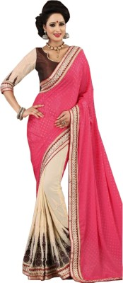 Shivam Textiles Embriodered Fashion Chiffon, Lace Sari