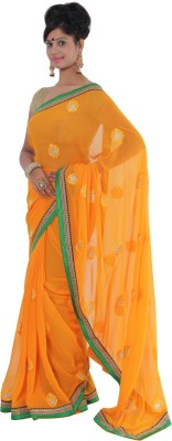 Vikrant Collections Applique Bollywood Georgette Sari