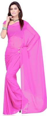 Swaranjali Solid Bollywood Georgette Sari