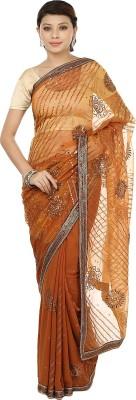 Gopalka Prints Embellished Fashion Handloom Organza, Georgette Sari
