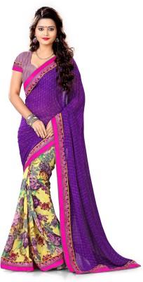 FemaleFashion Printed Fashion Georgette Sari