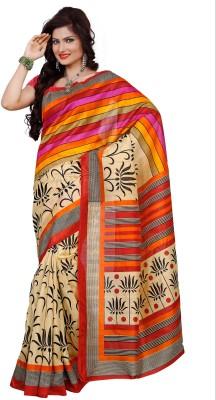 ABHINAL FASHION Printed Fashion Pure Silk Sari