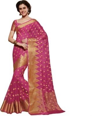 Gian Creations Embriodered Fashion Raw Silk Sari