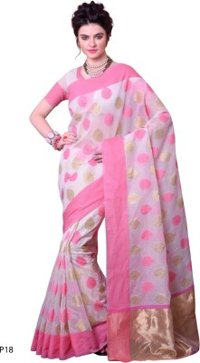 La,ethnic Solid Fashion Handloom Cotton Sari