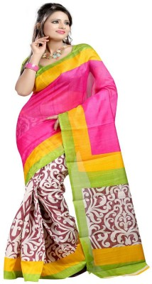 Best Collection Printed Bhagalpuri Art Silk Sari