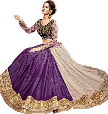 Manish Creation Embellished, Embriodered Bollywood Georgette, Net Sari