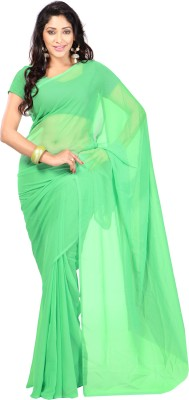 Shagun Prints Plain Bollywood Chiffon Sari