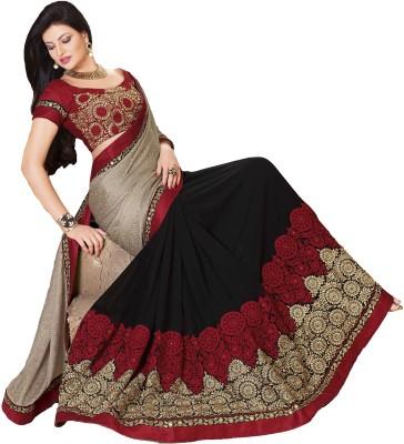 Fashion Forever Embriodered Fashion Chiffon, Georgette Sari