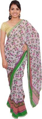 pujarika Printed Fashion Pure Chiffon Sari