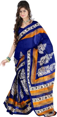 Right Shape Printed Bollywood Polycotton Sari