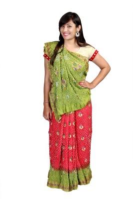 Kajci Embriodered Bandhani Silk Sari