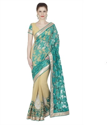 Jay Self Design Bollywood Handloom Net, Jacquard, Chiffon Sari