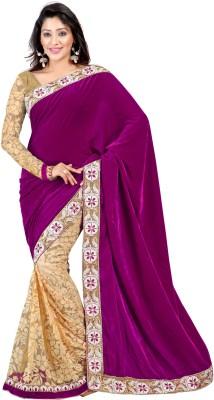Stfw Embriodered, Self Design, Solid Fashion Velvet, Brasso Sari